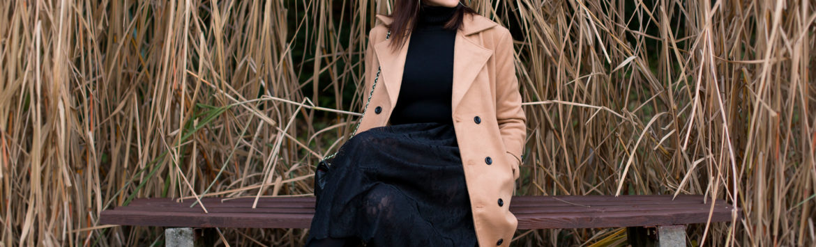 Outfit: Camel coat