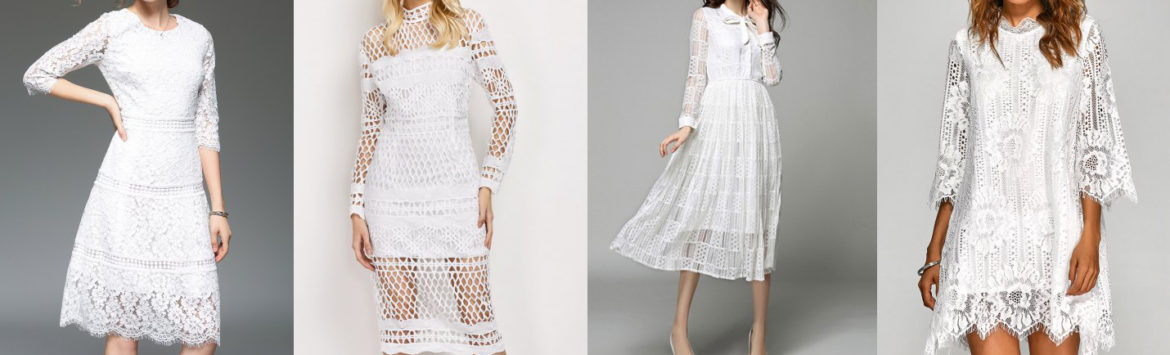 Must have: White lace dress Rosegal
