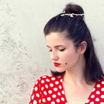 Outfit: Rosegal red dotted dress